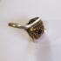 Кольцо с жемчугом, сапфиром и топазом