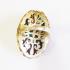 Крупное кольцо с изумрудом, рубином и топазом
