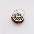 Кольцо с сапфиром и топазом
