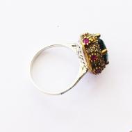кольцо с изумрудом-1