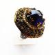 Крупное кольцо c сапфиром