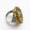 Крупное кольцо с сапфиром и топазом