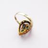 Кольцо с изумрудом и топазом