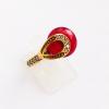 Кольцо с рубином и топазом