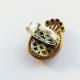 Кольцо с ониксом и топазом