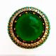 Крупное кольцо с изумрудом и топазом
