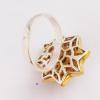 Кольцо с аметистом и топазом